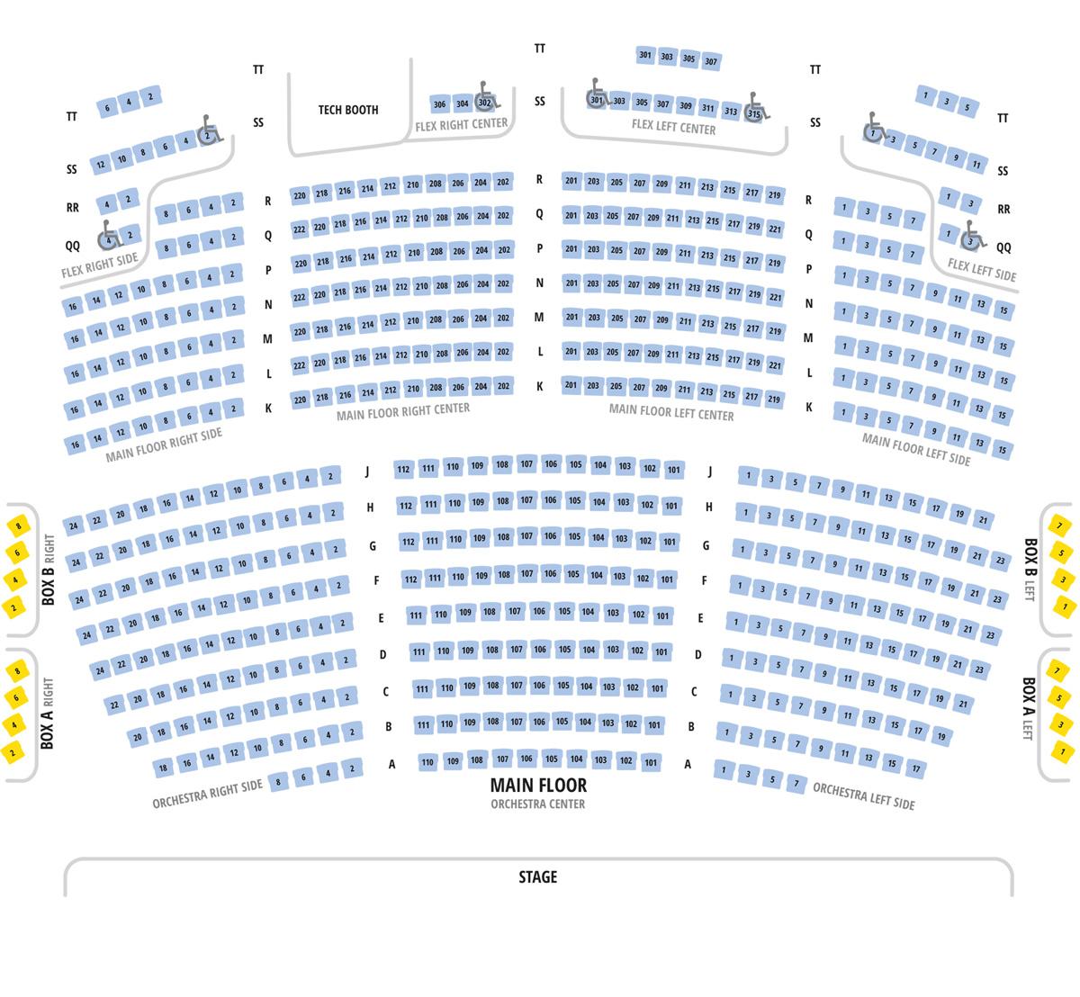 Ccc Seating Chart  U2013 Manitowoc Symphony Orchestra